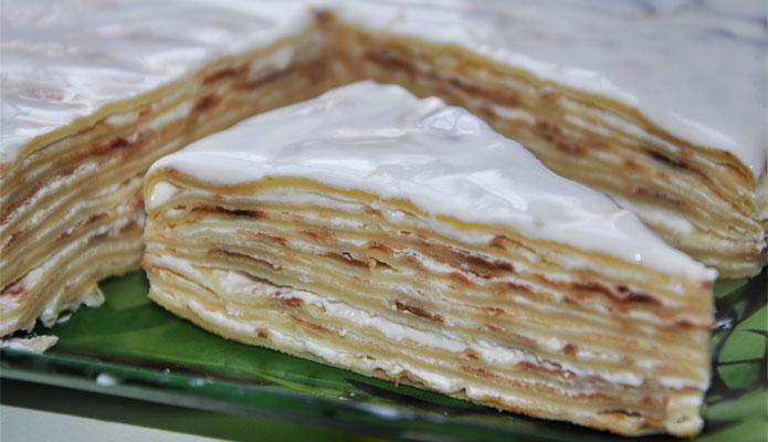Рецепт торт блинный со сметанным кремом рецепт