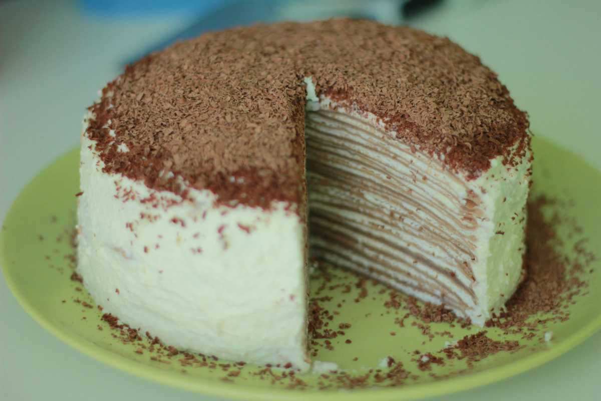 Блинный шоколадный торт рецепт пошагово в домашних условиях быстро