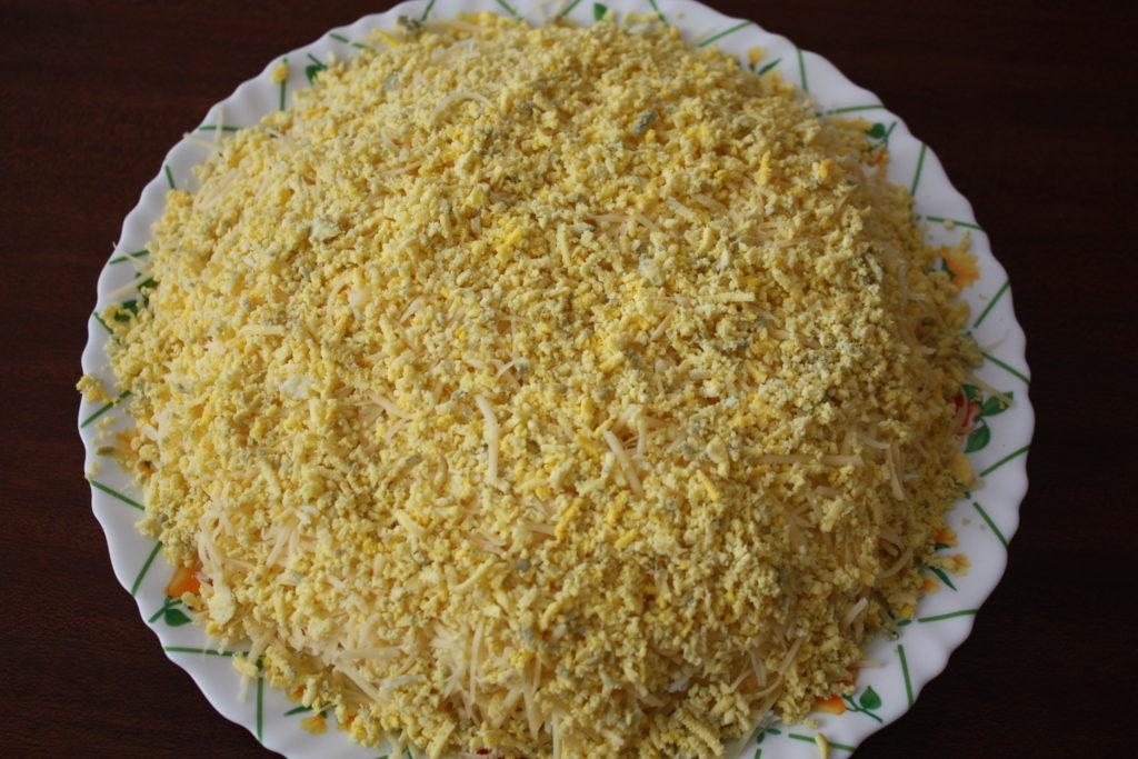 Курица ананасами салат слоями
