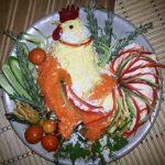 Салат огненный петух на новый 2017 год . Пошаговый рецепт приготовления для новогоднего стола
