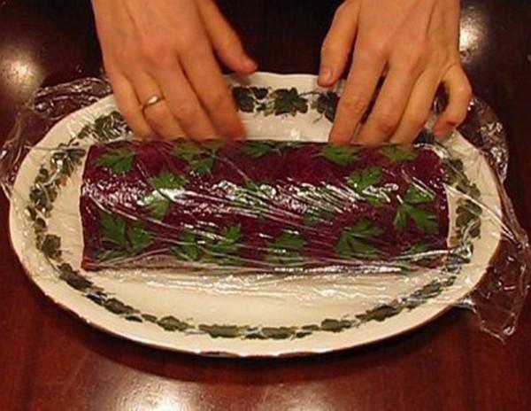 Салат под шубой рулетом рецепт с фото