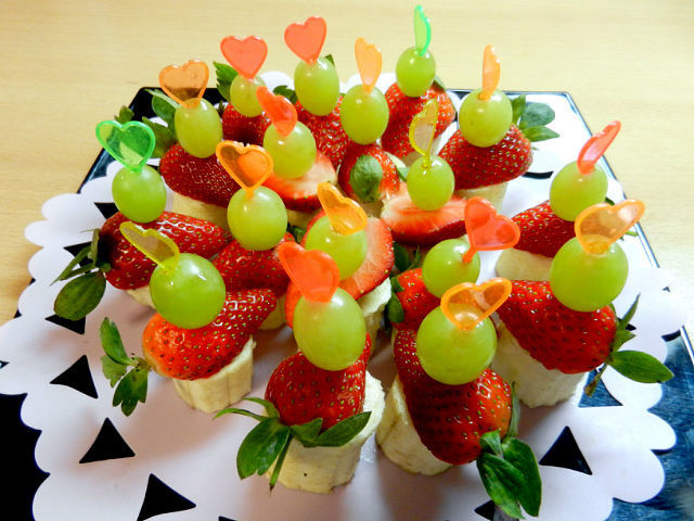 Как сделать канапе из фруктов с