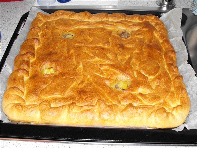 Тесто для пирога с мясом