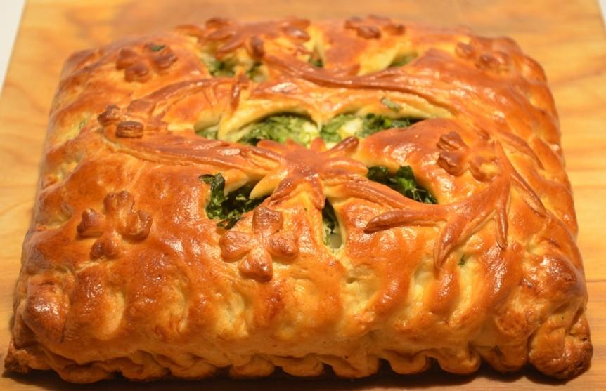 Пирог штолле с капустой рецепт с фото пошагово в духовке