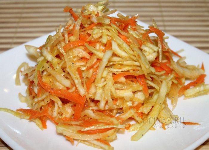 Как сделать салат капуста морковь и перец 846