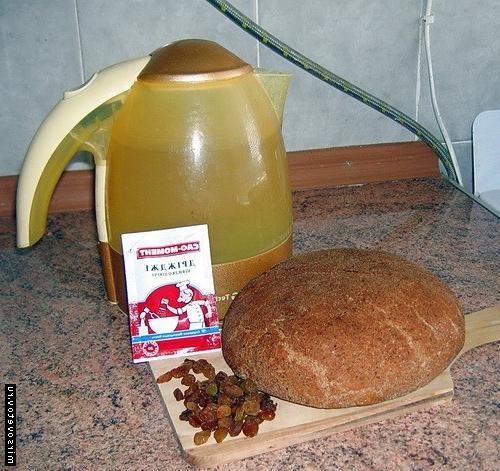 Квас в домашних условиях с хлебом