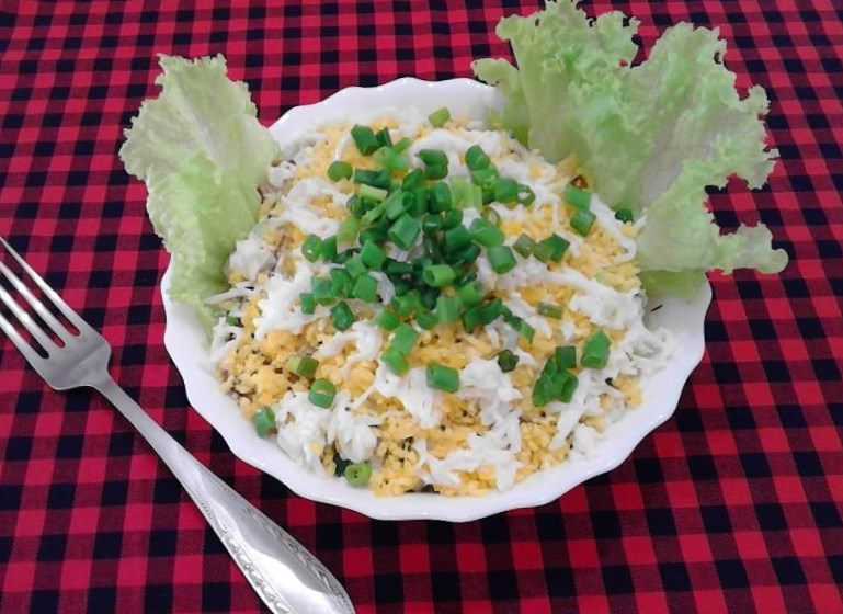 салат с гибами