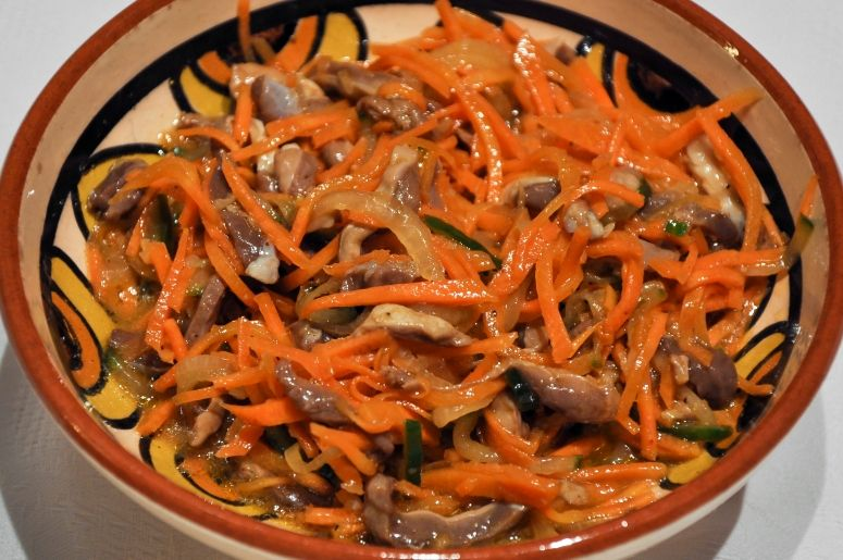 Желудочки по корейски рецепт