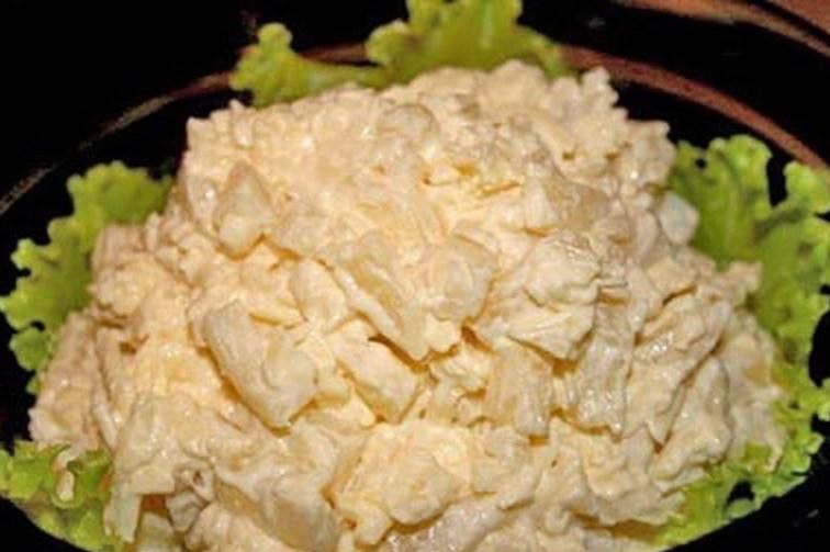 салат из курицы с ананасами пошаговый рецепт с фото и грибами