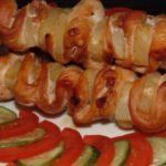 Шашлык из курицы в духовке на шпажках- 5 вкусных рецептов приготовления куриного шашлыка