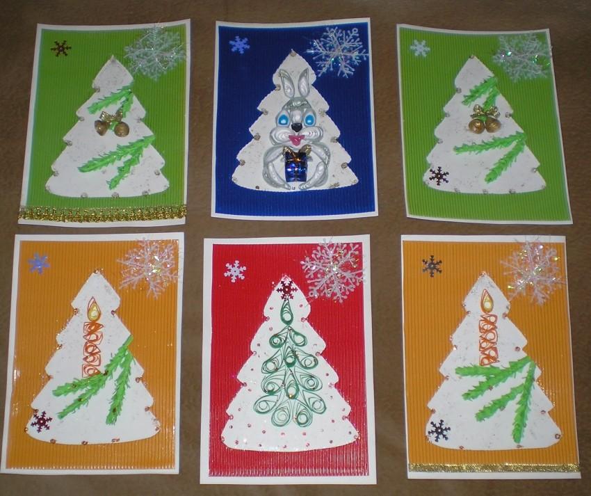 Открытка своими руками к новому году для детей 5 лет, прикольная картинка открытка